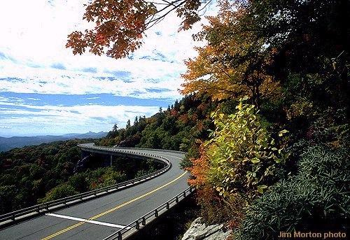 The High Country of Western North Carolina ~ The Linville Cove Viaduct taken by Jim Morton Photo